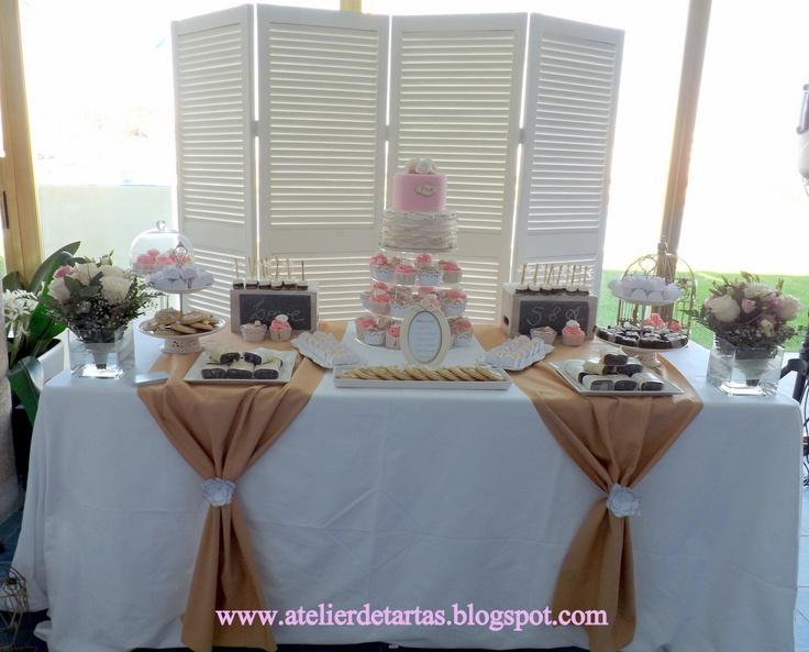Mesa dulce nupcial boda mallorca oro vintage by atelier de - Decoracion boda vintage ...