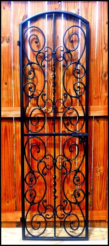 Falcon Crest Iron Wine Cellar Door - Many sizes - Single or Double Door - Completely customizable - Leos Iron Wine Cellar Doors