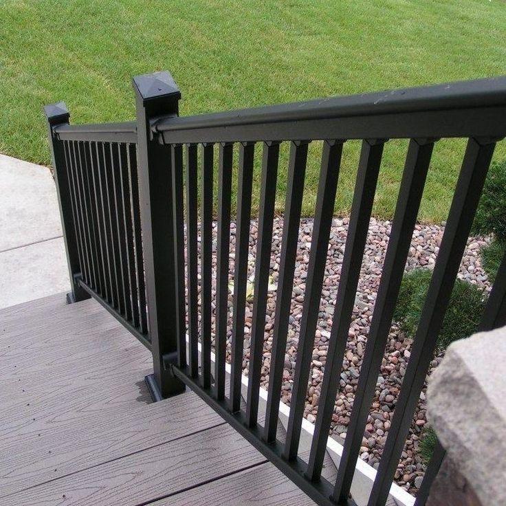 Black Aluminum Stair Rails Design ~ Http://lovelybuilding.com/aluminum