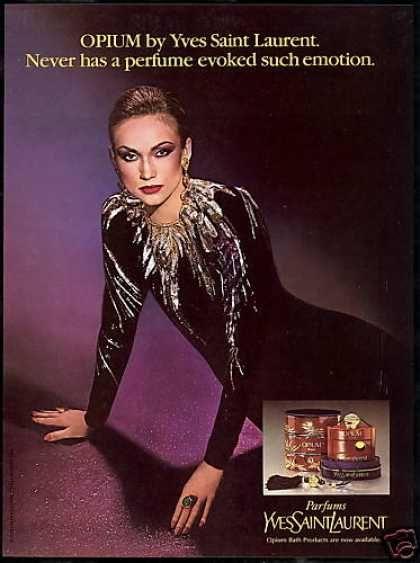 YSL Opium Perfume Evokes Emotions Photo (1980)