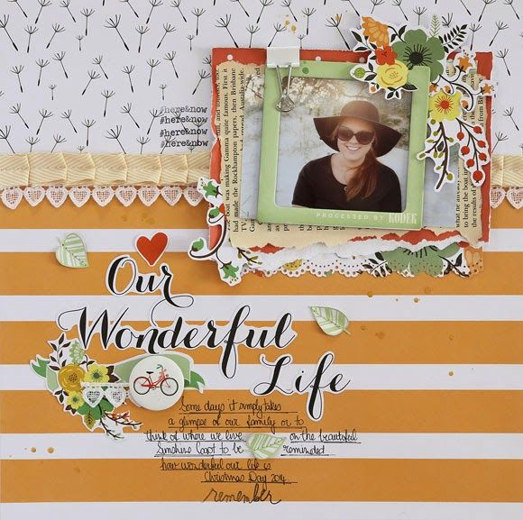 Teresa Collins Nine & Co collection.   Paper Hearts & Peonies: Our Wonderful Life