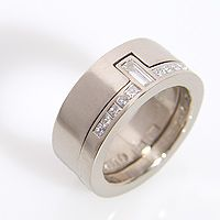 PLATINA - engagement and wedding ring set...different