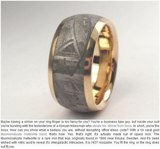 Meteorite Ring Tiffany