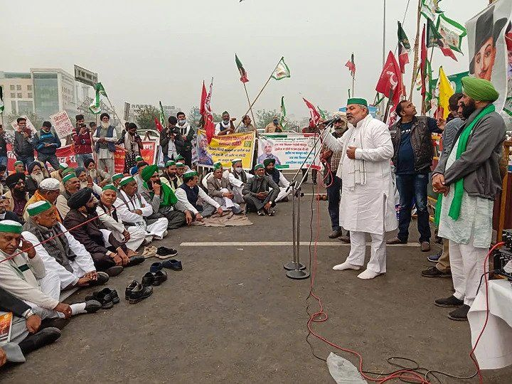 Farmer Protest Farmers Will Jam The Delhi Jaipur Highway Today Jaipur Delhi Bharatiya