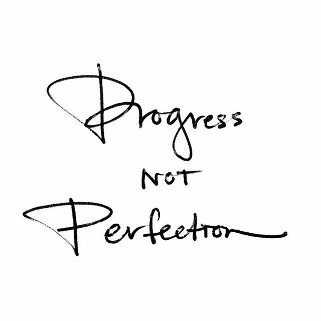 All the yes's. A big goal for me in 2016 is to take baby steps towards my goals and see the progress vs. being paralyzed by perfection.