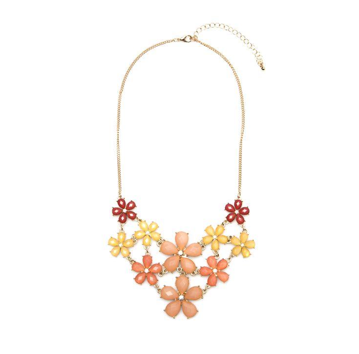 Korte halsketting met bloemen | Veritas