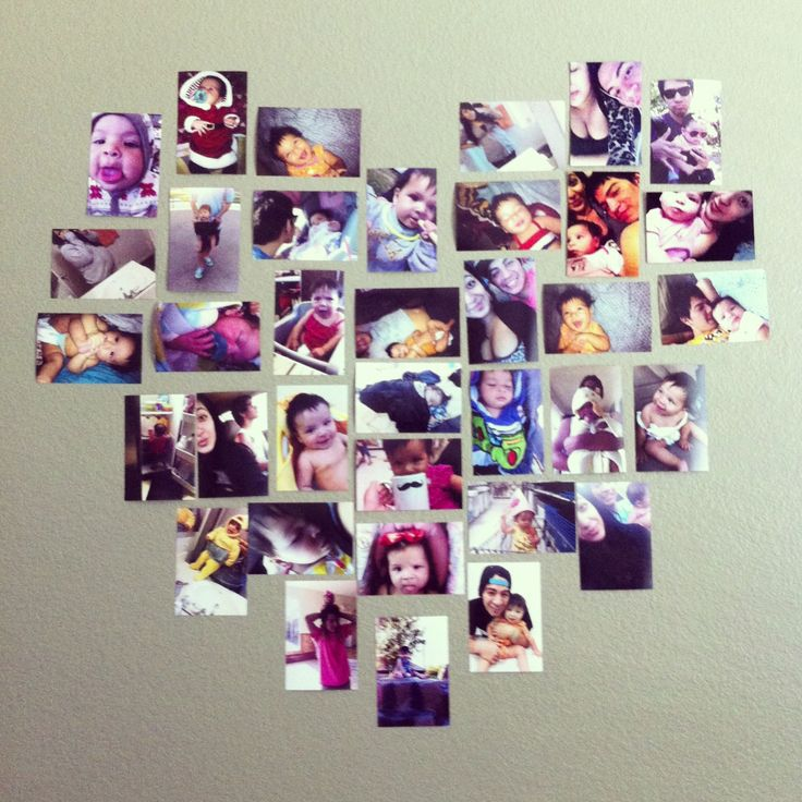 Heart Picture Collage- im gonna try this..