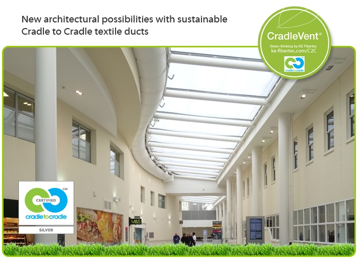 New architectural possibilities with sustainable Cradle to Cradle textile ducts