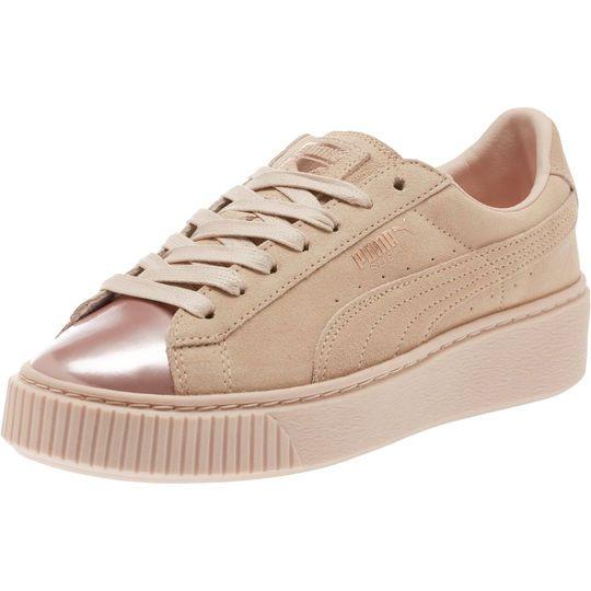 ed2fd4005c Suede Platform Rose Gold Women's Sneakers | Shoes in 2019 | Platform ...