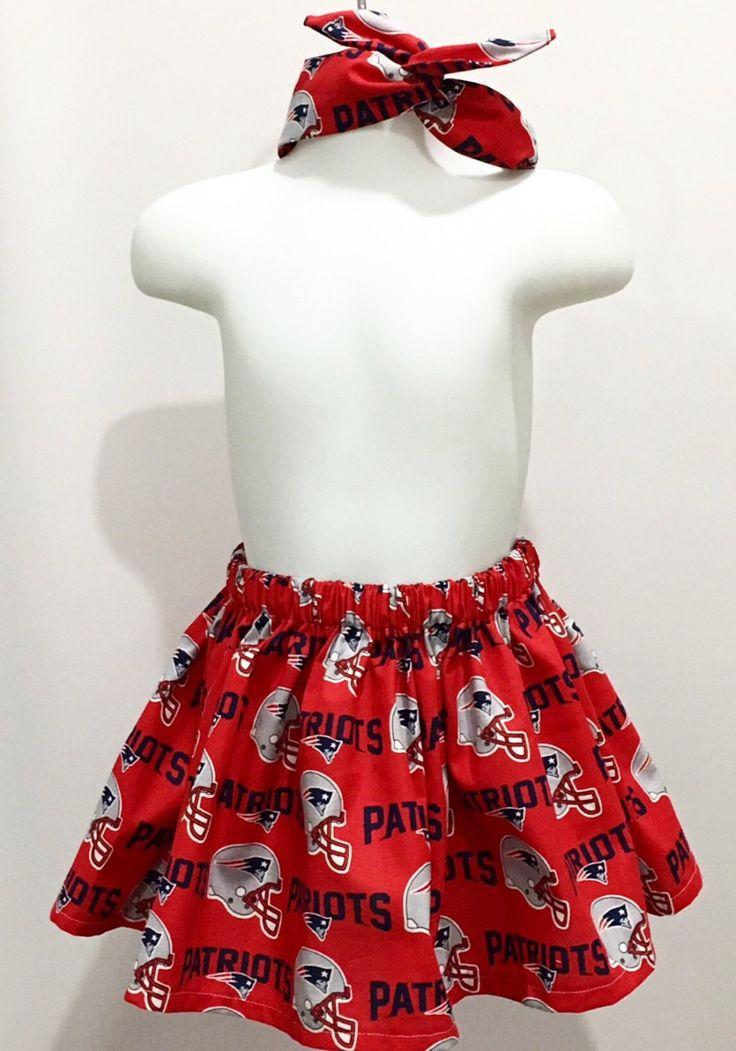 NEW ENGLAND Patriots Football Game day Spirit skirt, Game Day, Patriots, Sunday funday,  football, wired headband by lovingallthingsgirly on Etsy