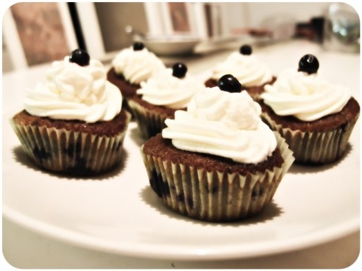 Blueberry Cupcakes.