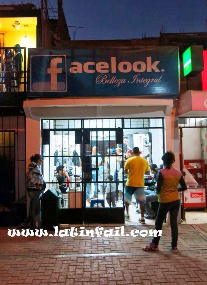 Salón de belleza para los fans de las redes sociales - BELLEZA INTEGRAL FACELOOK - Nombres graciosos de negocios  #humor