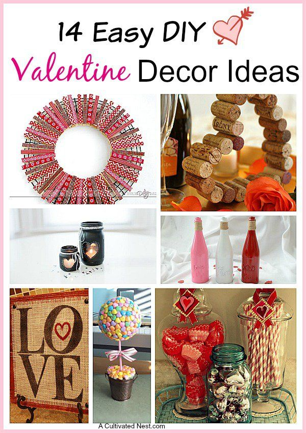 570 best holiday home decor valentine 39 s day crafts images for Creative craft ideas for home decor