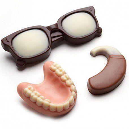 Hussel Seniorenteller aus Schokolade: Genießbare Geschenkidee für Frauen und Männer ab 50