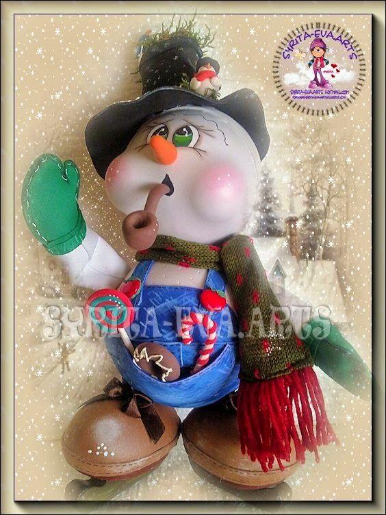 "fofuchas-syritaeva-arts: Fofucho Muñeco de Nieve ""Manolo"""