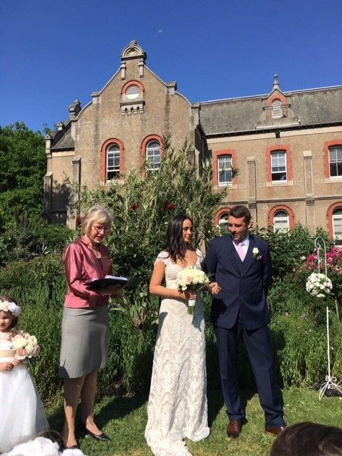 Very hot October day at Abbotsford Convent, Rose Garden.  Congratulations Cynthia and Nicolas!