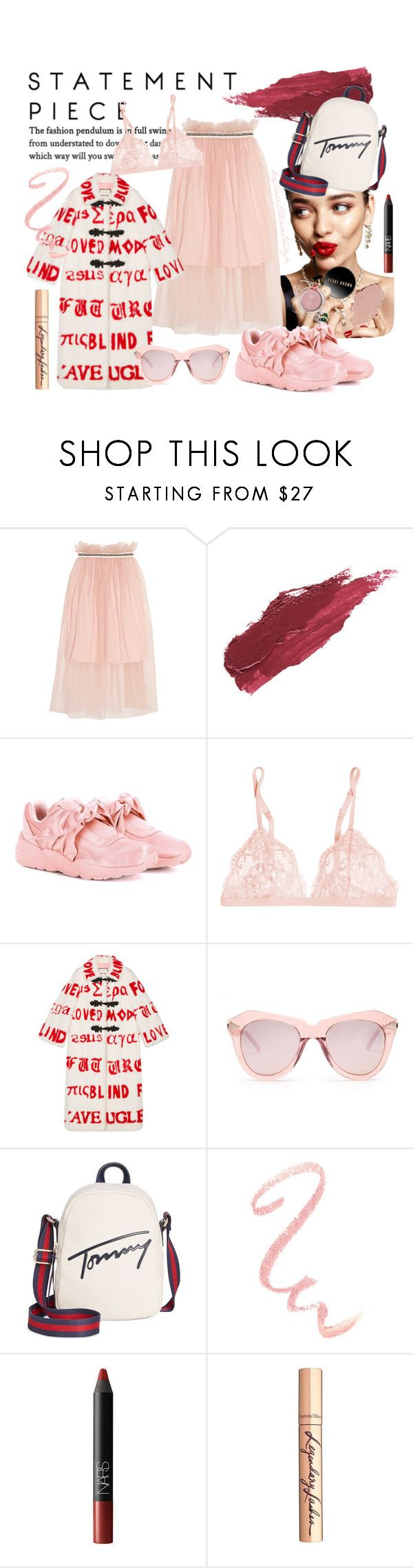 MY SPRING MOOD by bylacitranatasya on Polyvore featuring Gucci, Mother of Pearl, La Perla, Puma, Tommy Hilfiger, Karen Walker, Lily Lolo, Charlotte Tilbury, NARS Cosmetics and KAROLINA
