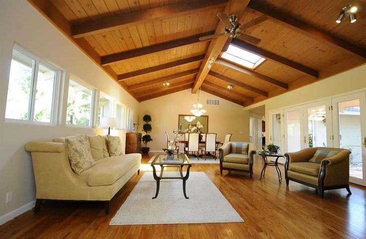 17 best images about cottage beam ceilings on pinterest for Open beam ceiling ideas
