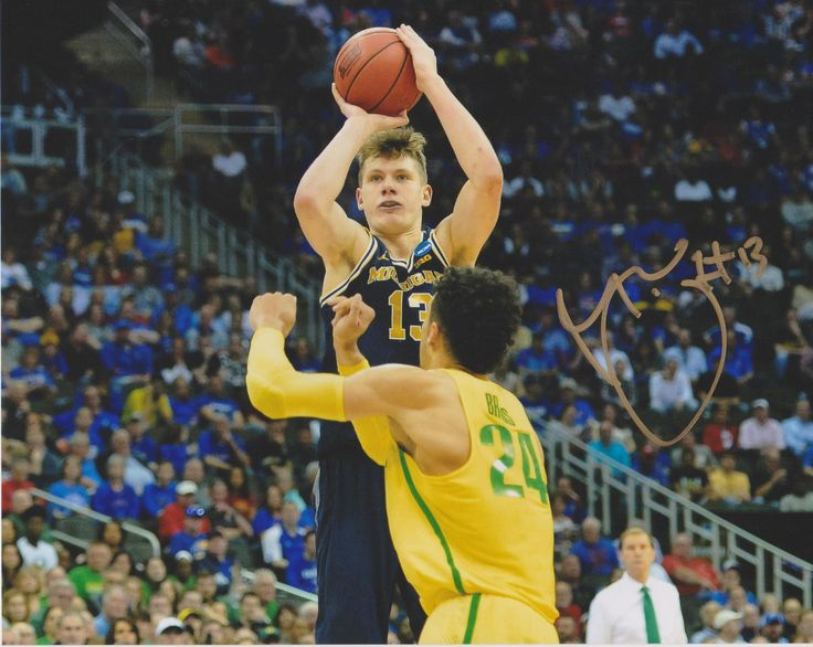 MORITZ WAGNER Michigan Wolverines Basketball Signed 8X10 Photo d | eBay