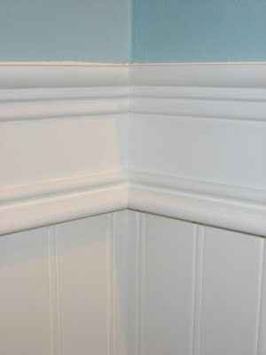 Starter home to Dream home: The Half Bath Remodel - Easy to understand tutorial for putting up bead board!