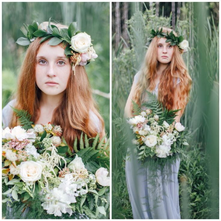 Fern, peonies, roses and asparagus bouquet. Wild organic inspired shoot. We adore those wild greens in bouquets. Suitable for rustic weddings.