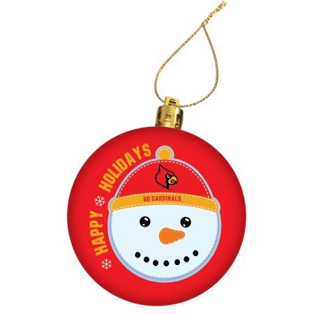 University of Louisville Holiday Christmas Ornament, Red