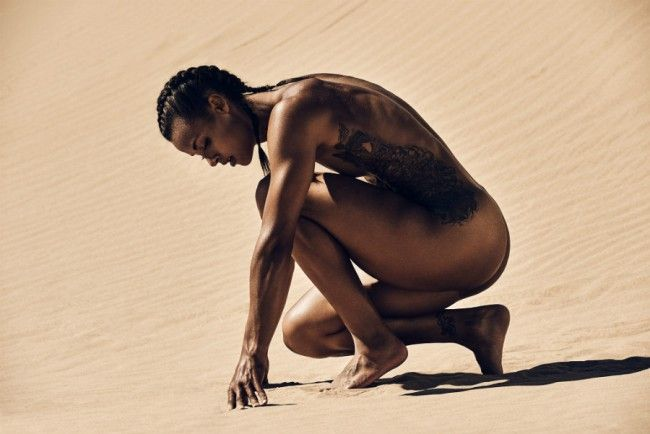 """Chantae Mcmillan for ESPN's 2015 """"Body Issue"""" photographed by Carlos Serrao"""