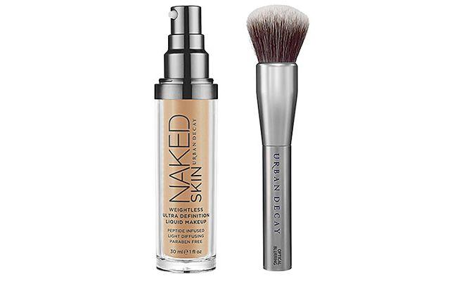 Urban Decay Naked Liquid Makeup and Good Karma Optical Blurring Brush