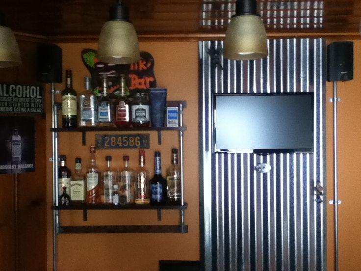Corrugated Metal Wall Panel For Bar Bar Ideas