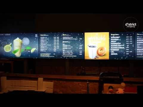 DROPTOP Smart Menu Board - YouTube                                                                                                                                                     More