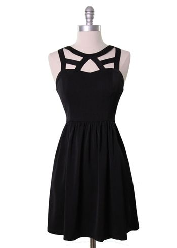 Cage Neckline Dress