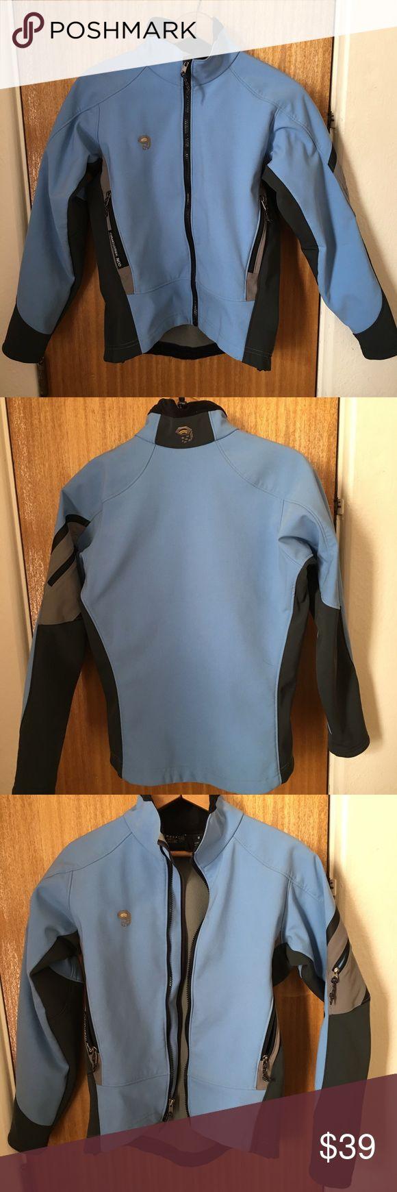 Mountain Hardwear Jacket Size 8 Mt Hard Wear Jacket Gore Windstopper Jacket.  Size 8.  Blue and gray. Mountain Hard Wear Jackets & Coats Utility Jackets