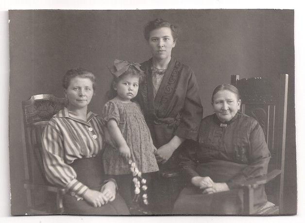 Vintage Fotos - Vintage Fotografie 4 Generationen Frauen um 1915 - ein…