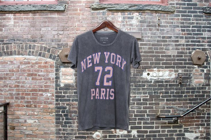 NEW YORK 72 PARIS ROUND NECK T CHARCOAL - ZUTTION #zuttionmens #washedout #vintagemens #mensclothing #mensfashion #ltdedition #fashiongraphics