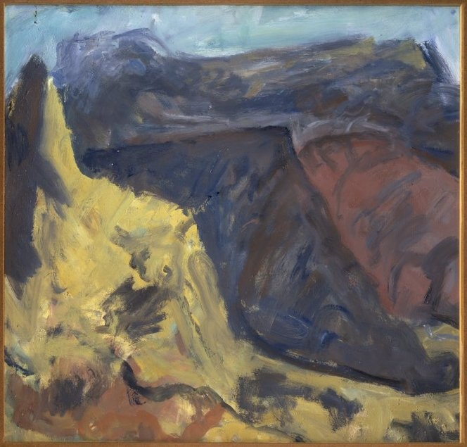 Tosswill  Sir   1910-1998   Unfinished landscape painting  1987Unfinished Landscape Painting
