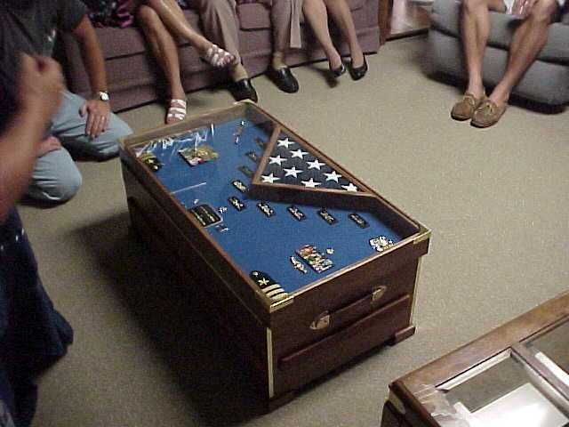 Chesttable Shadow Box NAVY Retirement Pinterest