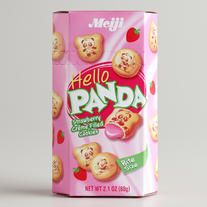 So incredibly yummy...Meiji Hello Panda Strawberry Cream cookies. now available at www.thesnackspot.com