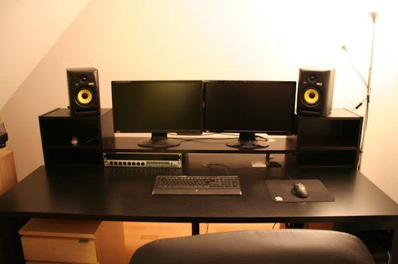 #ikea hack music production desk: