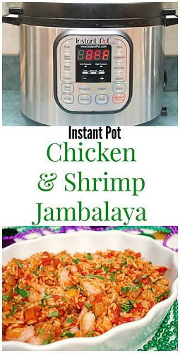 Instant Pot Chicken & Shrimp Jambalaya will give you a fantastic taste of New Orleans whenever you have the craving. Who says it has to be Mardi Gras?!
