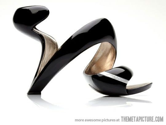 One of the most creative high heels ever designed!  Just not sure how one walks in them...
