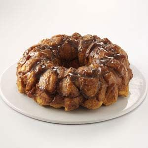 Pull-Apart Caramel Coffee Cake Recipe -The first time I made this delightful breakfast treat for a brunch party, it was a huge hit. Now I get requests every time family or friends do anything around the breakfast hour! I always keep the four simple ingredients on hand. —Jaime Keeling, Keizer, Oregon