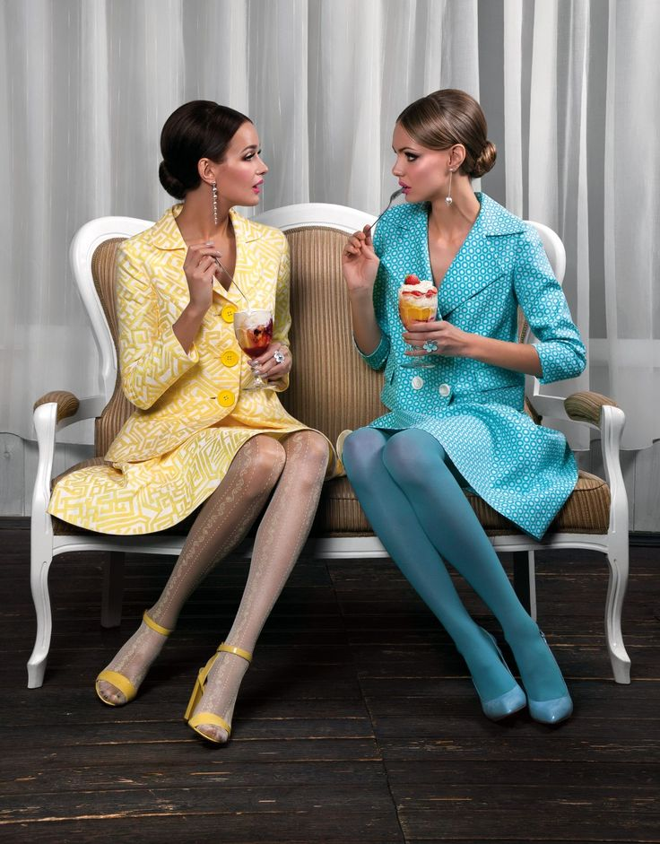 Pintel Store — Women Dresses & Suits #editorials #fashion #shooting #Pintel #60s #suits #yellow #blue #girl #cafe