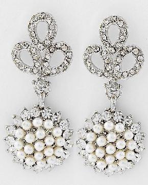 Pearl & Rhinestone Drop EarringsDrop Earrings, Idease Bachelorette Parties, Rhinestones Drop