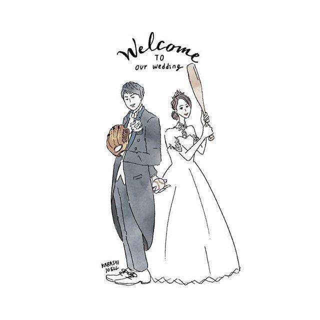 新郎新婦 おしゃれまとめの人気アイデア Pinterest Natu 結婚式のイラスト ウェディング 結婚 イラスト
