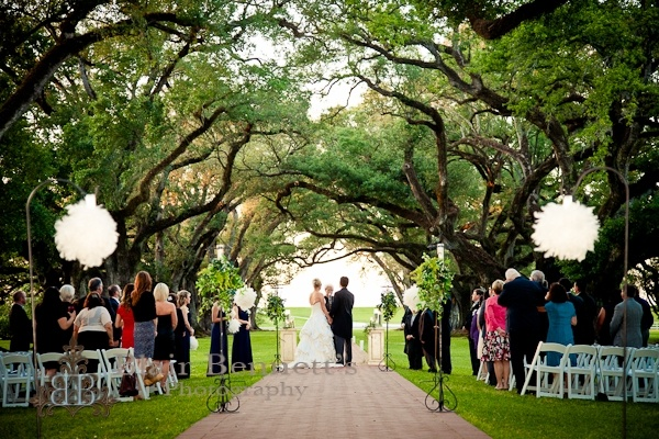 OAK ALLEY PLANTATION – Baton Rouge – Reception and Ceremony Locations.  Blair Bennett Photography