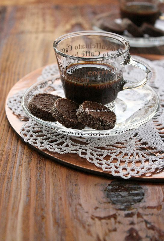 Diamantini di cioccolato, riso e caffè