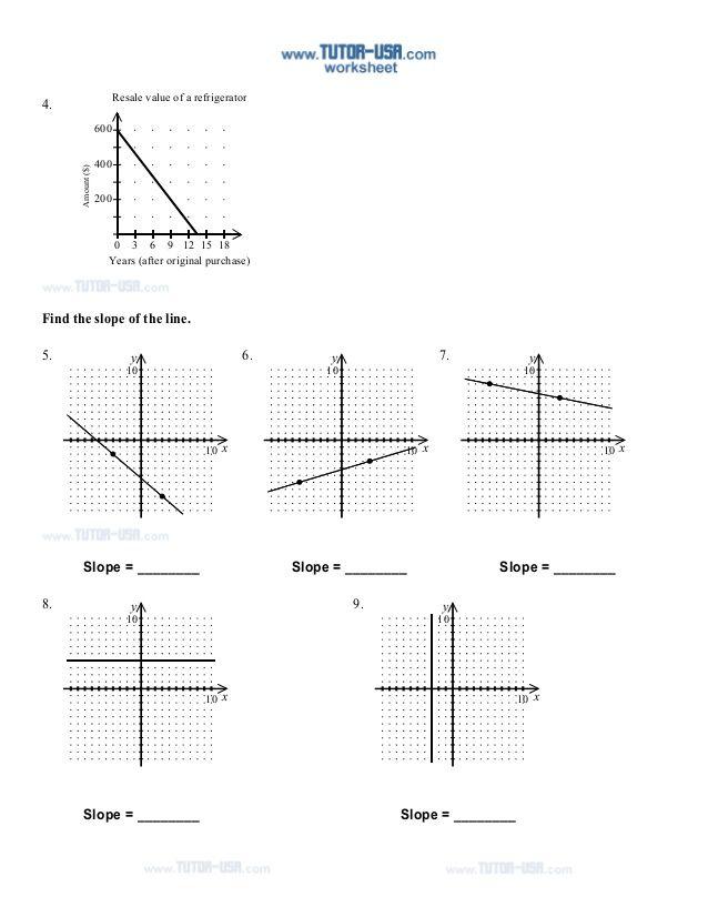 Slope Worksheets Proworksheet Com Worksheet Template Free Math Worksheets Printable Worksheets