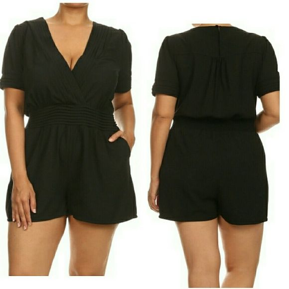 Black romper Plus size romper available in 1X-3X Other