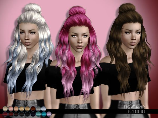 Night hairstyle for TS3 by Leah Lillith by The Sims Resource for Sims 3 - Sims Hairs - http://simshairs.com/night-hairstyle-for-ts3-by-leah-lillith-by-the-sims-resource/