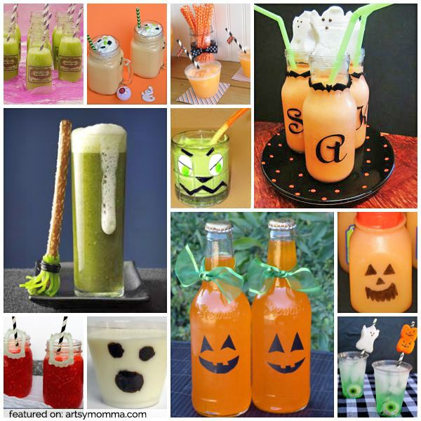 20 SPOOKalicious Halloween Drinks for Kids - perfect for a Halloween party or playdate with friends!